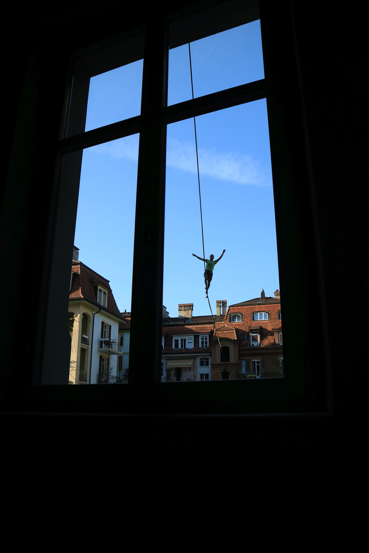Blick aus dem Fenster am Anker